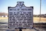 Picture of the Virginia State historical marker, commemorating the battle